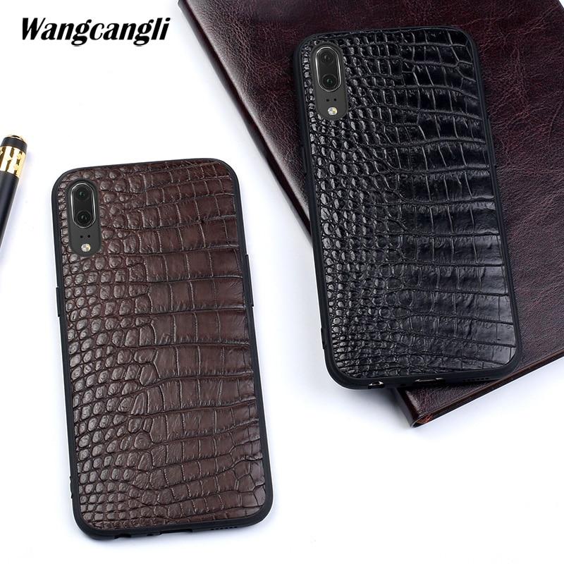 Wangcangli Crocodile belly skin phone case for Huawei P20 Genuine leather phone case all-inclusive protection caseWangcangli Crocodile belly skin phone case for Huawei P20 Genuine leather phone case all-inclusive protection case