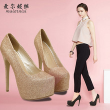 fashion beautiful women shoes high heel 15 cm red bottoms waterproof ultra heels with soles women shoes size 35 – 44 MENSA15-3