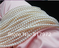 Wholesale Top Real pearl Round Bead 8mm Natural pearl highlight Fashion pearl 37cm Loose Beads women Jewelry Party Gift
