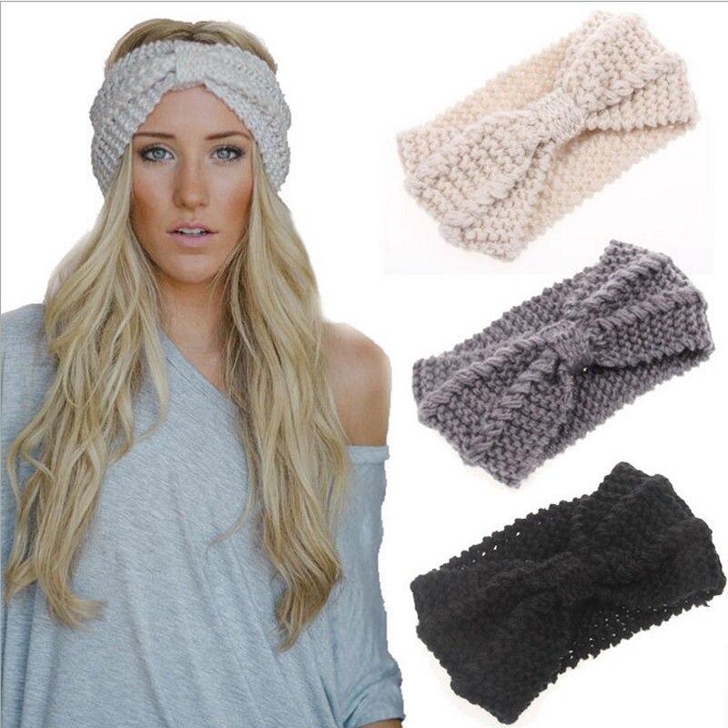 Newly Cute Fashion Casual Ladies Women Turban Crochet Twist Knitted Headwrap Headband Winter Warmer Hair Band 6 Colors