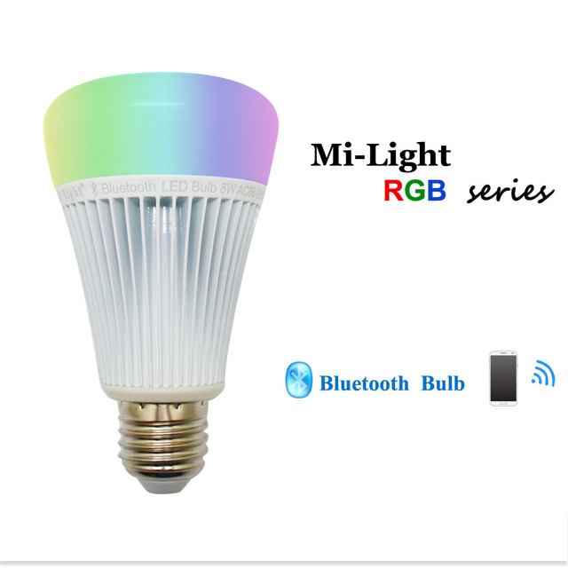 8W E27 2.4GMi Light Smart Bluetooth Music Led Bulb Light RGB+Color temperature Control  by Remote Control & Android/IOS