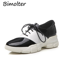 купить Bimolter Black+White Flats Women Casual Flats Cow Leather Shoes Casual Leisure T-Tied Round Toe Handmade Shoe High Quality NB019 по цене 4445.86 рублей
