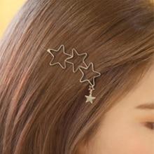 Hair-Clip Jewelry Hair-Decor-Accessories Stars Barrette Style Metal Heart Girls Unique