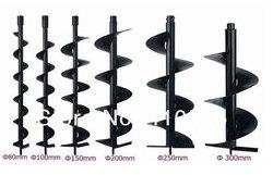 Świdry do wiercenia w ziemi wiertło do ziemi bit wiertła kręte wiertła 60mm 80mm 100mm 120mm 150mm 200mm 250mm 300mm podwójne liście