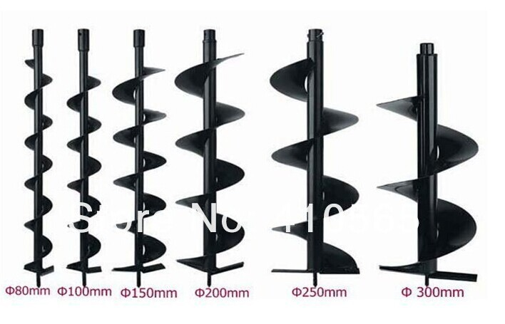 Earth auger drill bits Earth drill bit auger bits drill bits 60mm 80mm 100mm 120mm 150mm 200mm 250mm 300mm double leaves agricultural drill cultivator digger 71cc earth hand auger post hole auger drill for garden tool page 6