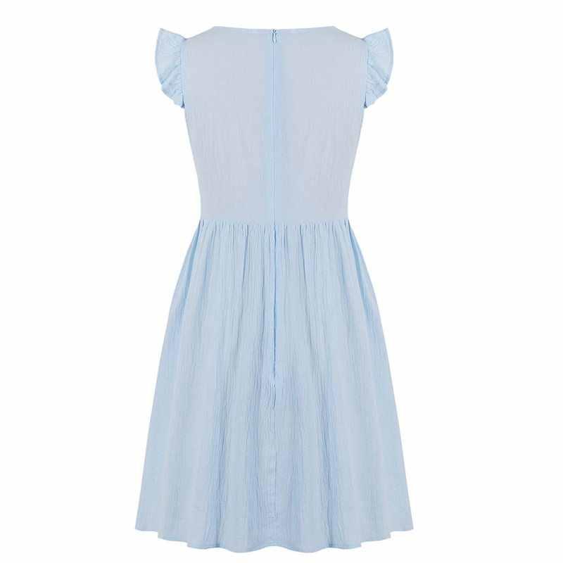 Летние офисные женские вечерние платья в готическом стиле, большие размеры, синие женские мини-платья, простые плиссированные милые винтажные женские готические сексуальные платья в стиле ретро