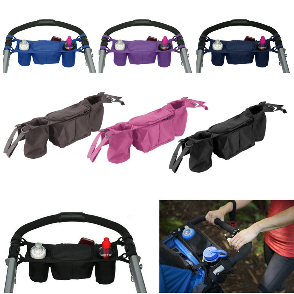 Baby Stroller Organizer Baby Prams Carriage Bottle Cup Holder Bag for Pram Buggy Baby Stroller Accessories Wheelchair Bag bottle holder universal 360 degree rotation antislip cup drink holder for stroller bike wheelchair 88 s7jn