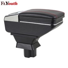 For Mazda 2 Demio Mazda2 2008-2013 Car Armrest Box Pu Leather Central Store Content With Cup Holder Products Car-Styling
