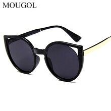 MOUGOL fashion cat eye women sunglasses brand woman vintage sexy retro triangular cateye sun glasses oculos feminino eyewear