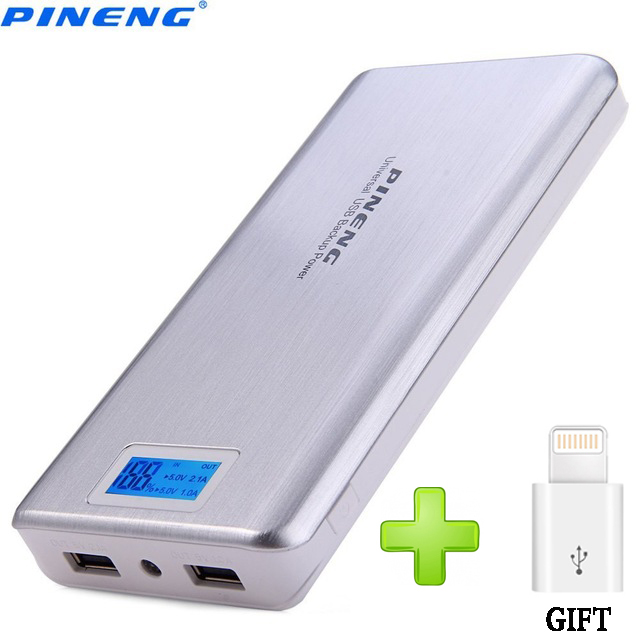 imágenes para Original pineng banco pover pn-999 20000 mah batería externa portátil banco de la energía 20000 mah cargador de batería del li-polímero con led indicador