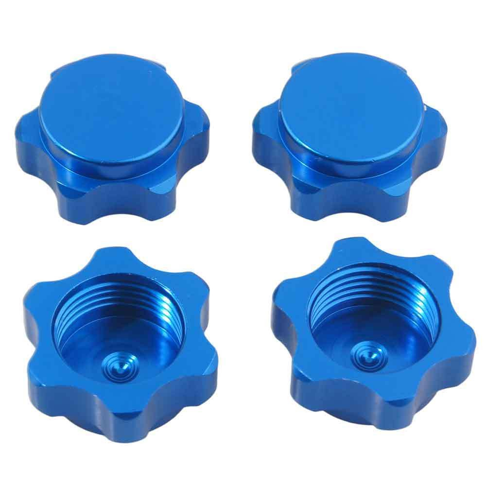4 Pcs 17mm Wheel Hub Hex Nut Fine Anti-dust Cover For 1/8 RC Car Buggy Truck Upgraded Hop-up Parts HSP Axial HPI Traxxas Himoto