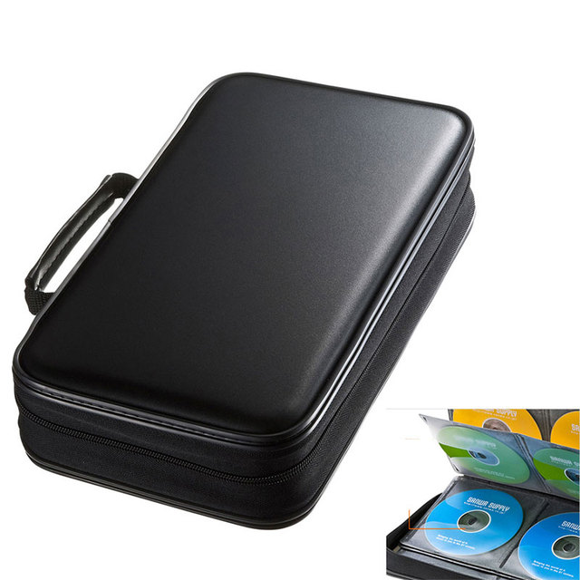 Ymjywl CD Fall Blu ray Disc Box Stoßfest CD Tasche 96 Discs Kapazität Für Auto Reise Lagerung Ausrüstung Box