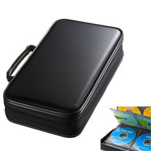 ymjywl CD Case Blu ray Disc Box Shockproof CD Bag 96 Discs Capacity For Car Travel Storage Equipment Box