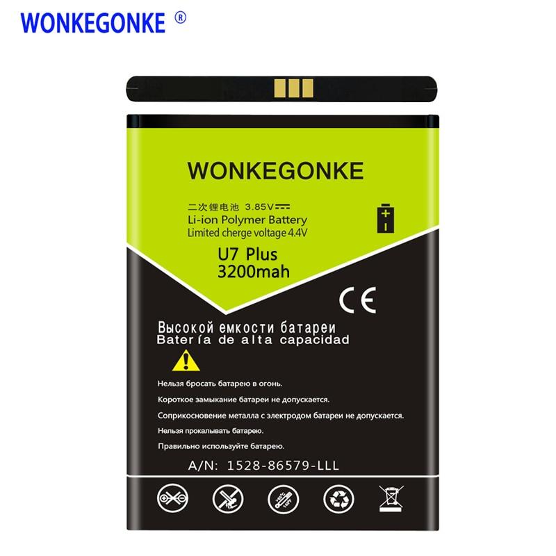 WONKEGONKE For Oukitel U7 PLUS mobile phone battery