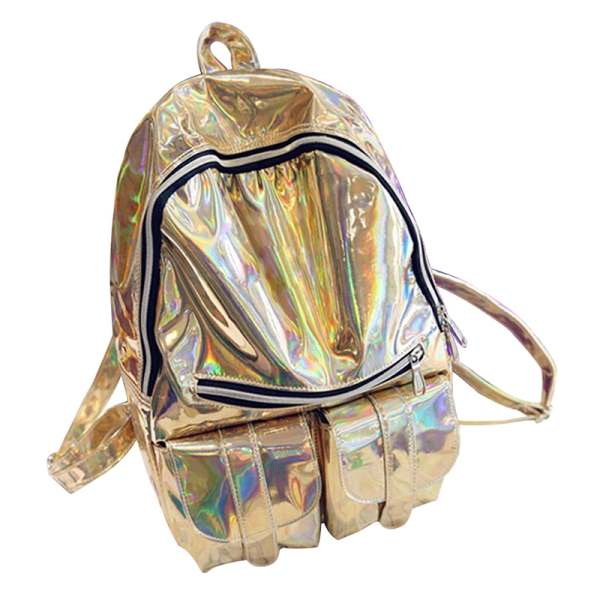 Women/'s SILVER HOLOGRAPHIC Gammaray hologram backpack shoulder bag Tote harajuku