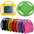 Portable Kids steering wheel for Apple iPad 2/3/4 EVA drop resistance stand holder hand-held protective back case Cover+Gifts