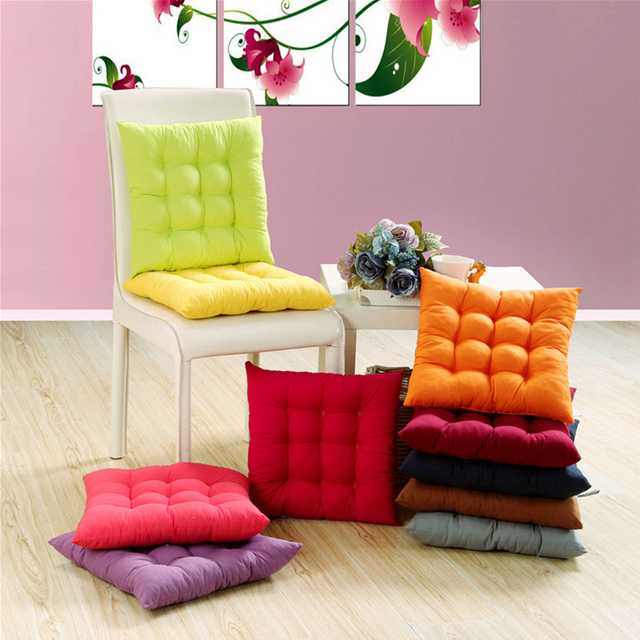 Cushion, 38x38cm,43x43cm,48x48cm,Soft Comfortable Chair Cushions Solid Color Seat Cushion Square Floor Tatami Cushion Home Offic