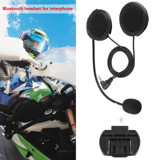 607747584dc Motorcycle Helmet Headset Accessories Bluetooth Headset Headphone  Microphone For V4/V6 Motorcycle Helmet Intercom Car-Styling