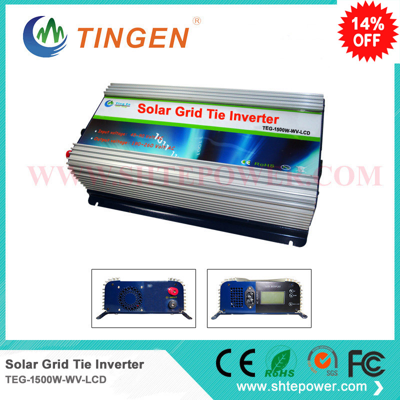 1500w 1.5kw dc input 45-90v to output 100v 110v 220v 230v use solar grid tie controller inverters with lcd display maylar 22 60vdc 300w dc to ac solar grid tie power inverter output 90 260vac 50hz 60hz