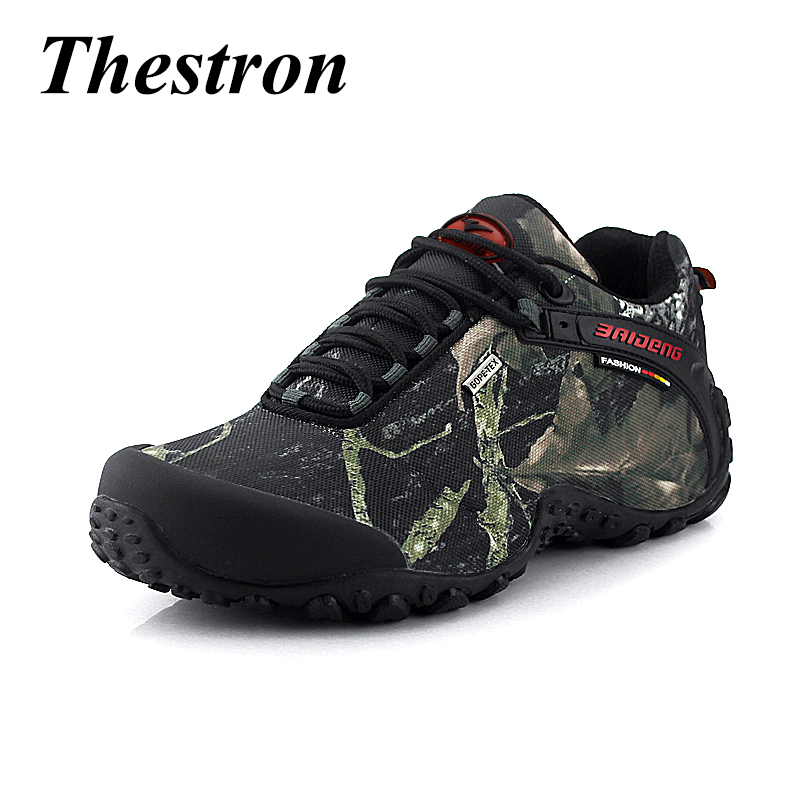 2018 Men Hiking Shoes Waterproof Outdoor Mountain Boots Rubber Sole Hunting Boots Military Camouflage Sneakers for Men 2016 sale professional men s boots camouflage military boot waterproof hunting hiking shoes size euro 39 44 bo01