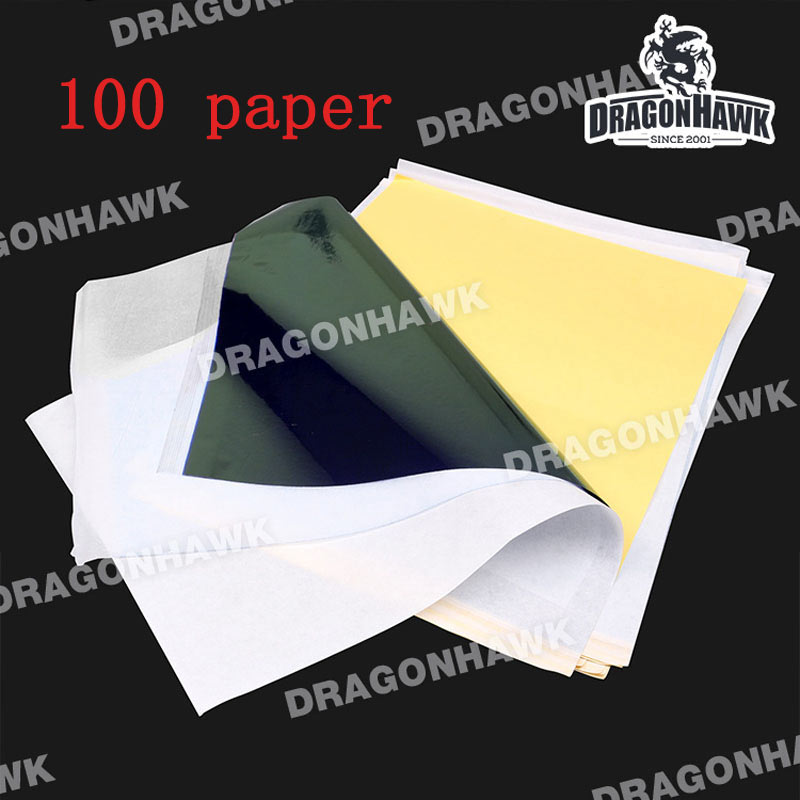 Tattoo Stencil Transfer Carbon Paper Top 100 pcs A4 Size Tattoo supply WS011*100 100pcs lot tattoo transfer paper supply tracing copy body art stencil carbon transfer paper a4