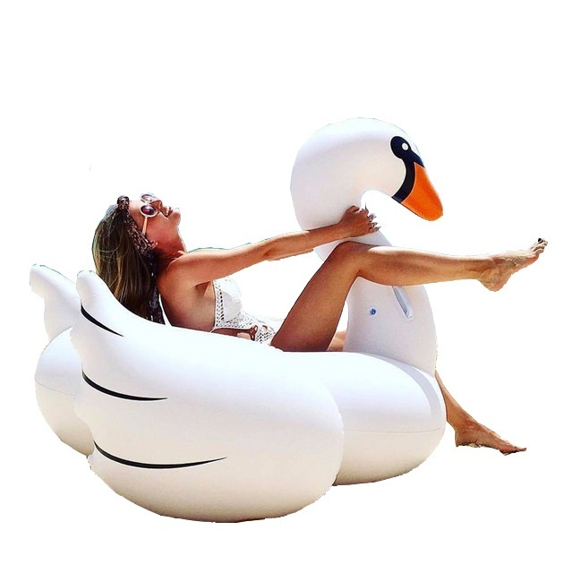 150cm Giant Inflatable Swan Pool Float Ride-On Pool Swimming Row Holiday Party Water Toys Islands Boias Piscina,HA040
