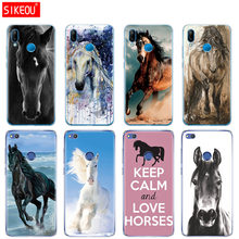 Silicone Cover Phone Case For Huawei P20 P7 P8 P9 P10 Lite Plus Pro 2017 p smart 2018 horse animal(China)