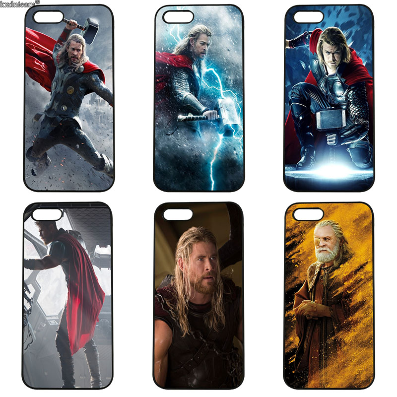 Cell Phone Cases Super Hero Thor for iphone 8 7 6 6S Plus X 5S 5C 5 SE 4 4S iPod Touch 4 5 6 Hard PC Plastic Anti-knock Cover