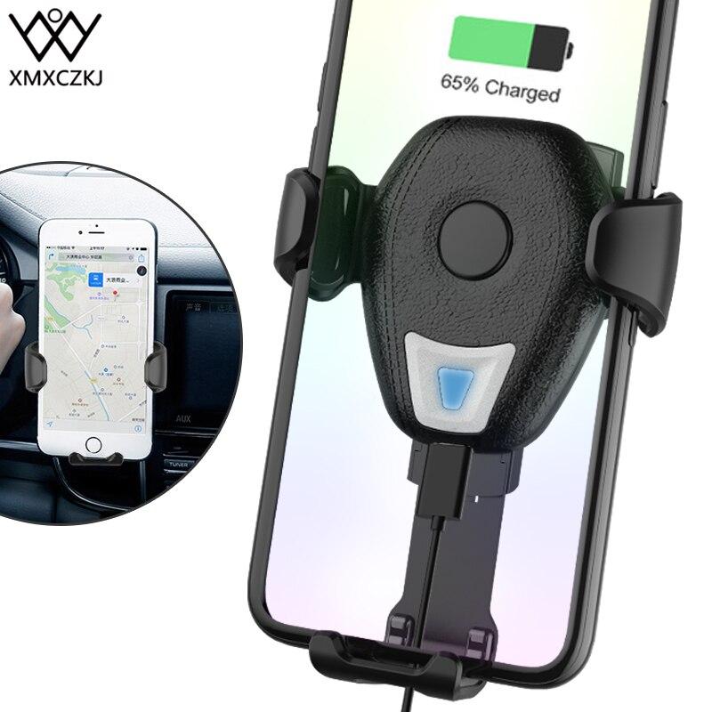 XMXCZKJ Caricatore Senza Fili Del Telefono Mobile Holder Air Vent Mount Supporto Della Clip Per il iphone X 8 XR Con Ricarica Per Smartphone Del Basamento in Auto