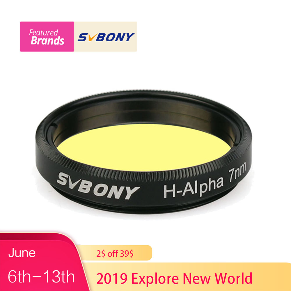 SVBONY H-Alpha 7nm 1.25 Filter Narrowband Astronomical Telescope Professional Photographic CCD Filter for Deep Sky F9169ASVBONY H-Alpha 7nm 1.25 Filter Narrowband Astronomical Telescope Professional Photographic CCD Filter for Deep Sky F9169A