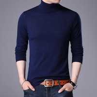 2018 Autumn Winter Solid Slim Fit Woolen Sweater Men Casual Blouse Men's Turtleneck Sweater Cashmere Pullover Man Top Quality