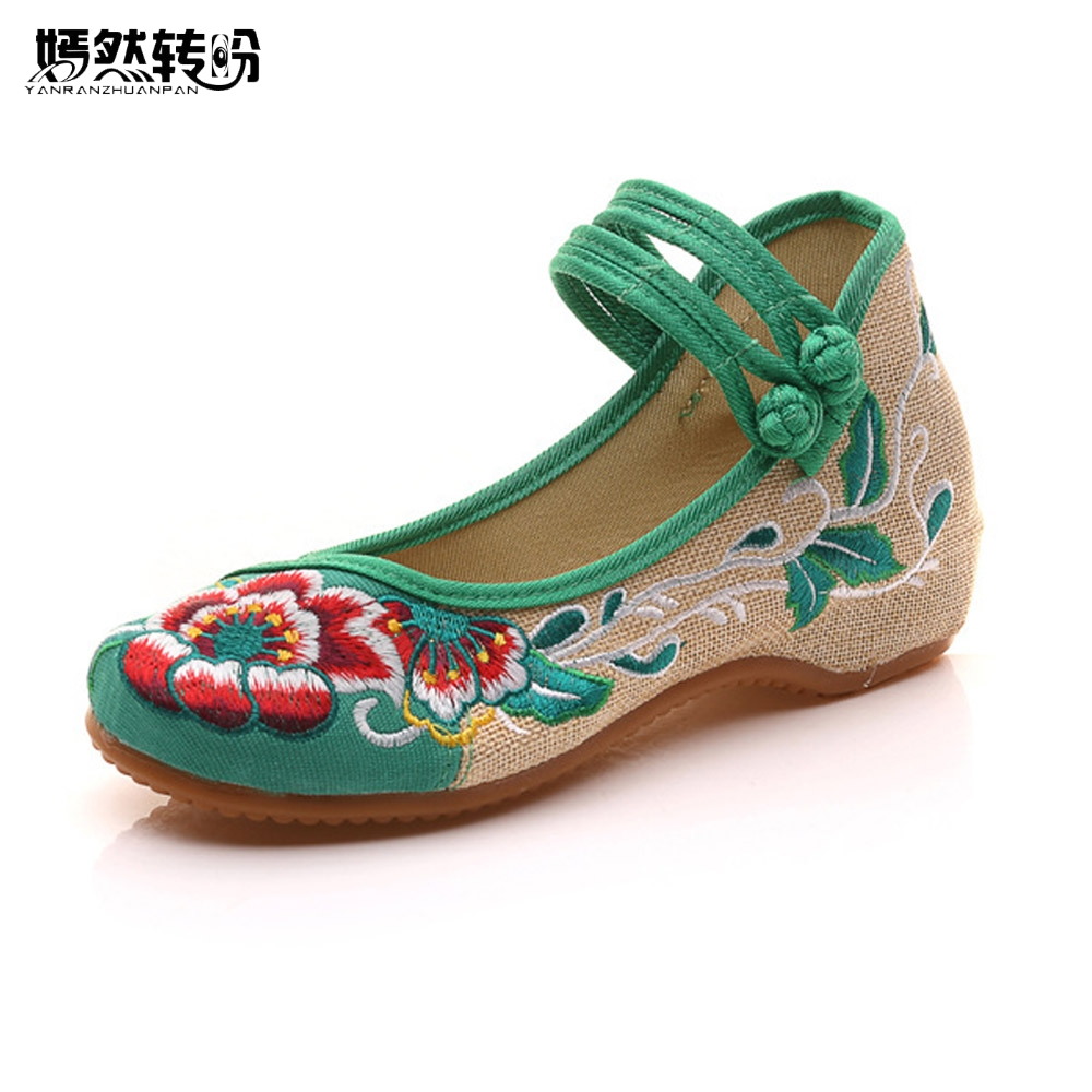 2017 Hot Sale Women's Shoes Old Peking Shoes Flat Heel With Embroidery Soft Sole Casual Shoes Dancing Shoes Size 34-41 peacock embroidery women shoes old peking mary jane flat heel denim flats soft sole women dance casual shoes height increase