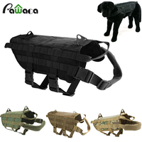 Army Tactical Dog Vests Training Vest Harness Load Bearing Military Travel Out Door Dog Pitbull Clothes