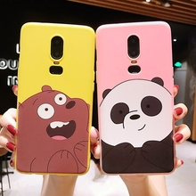 For Oneplus 7 6T 5 Phone Case Fashion Cute Cartoon We Bare Bears brothers funny soft Silicone case 5T 6 Cover