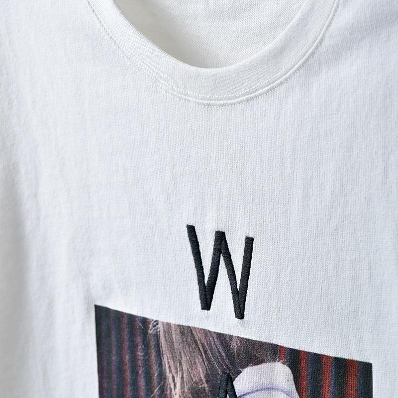 Femmes White Courtes Coton Manches Base Taille Coréenne shirt T0851 Pour Col Rond T Les Monogramme Grande 6ZWwqA