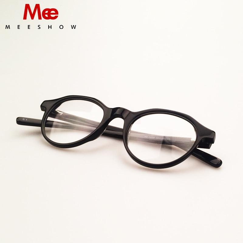 Rahmen Black Optische Angepasst 1028 Acetat Objektiv Retro Männer Meeshow Myopie Brillen Frauen 2019 Brille wvOxqgXIT