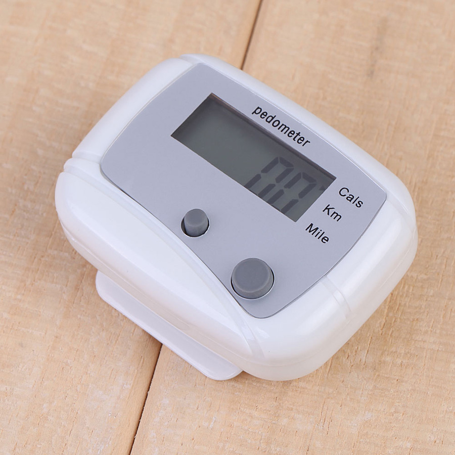 White Multifunction Pedometer Outdoor Sports Walking Distance Calorie Counter Passometer High Quality Outdoor Fun Sports Tools