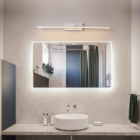 Led Bathroom Wall Lamp Mirror Lights Black / White 400/600/800/1000 / 1200mm Modern Makeup Bathroom Dresser LED Mirror Lamp