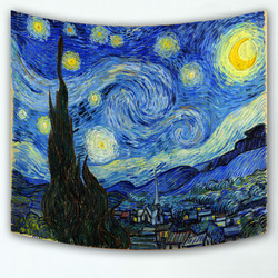 High quality home decorative landscape painting wall tapestry hanging carpet scenic printed sofa cover, comfortable beach towel
