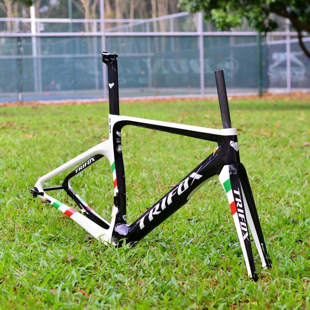 TRIFOX  Carbon Road Bike Frame Disc Brakes Di2 Mechanical 3K 1 Carbon Fibre Road Cycling Race Bicycle Frameset Road Bike