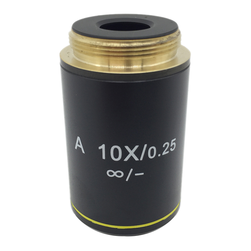 A 10X/0.25 Achromatic Infinity Bio-Microscope Objective Lens for Biological Microscope Zeiss Olympus Infinity Microscope 4x 10x 40x 100x achromatic objective lens for biological microscope bio microscope conjugate distance 185 mm
