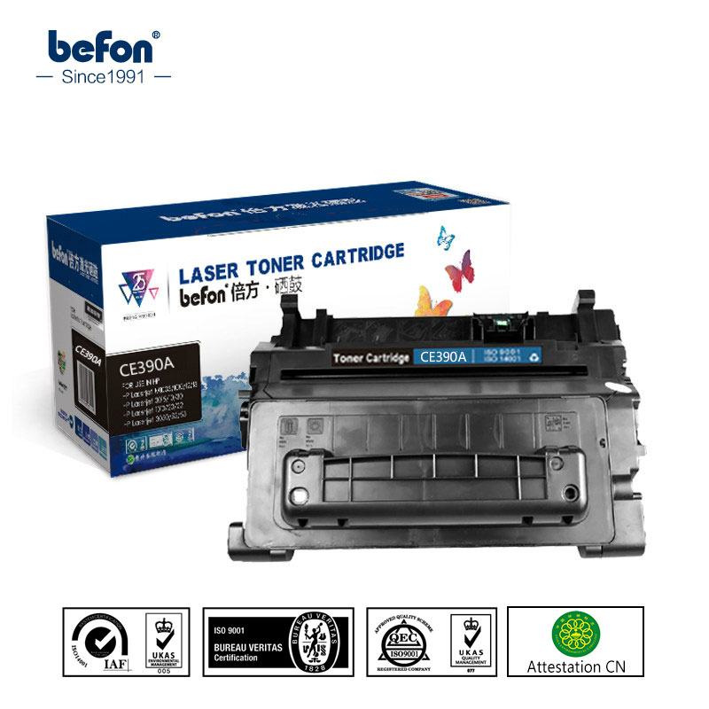 befon CE390A 390a 390 Toner Cartridges Compatible for HP LaserJet Enteprise M4555h MFP M4555t MFP M4555fskm 600 M601 M602 M603 for hp ce390a 90a 390a 90 black laserjet toner cartridge for hp laserjet 4555 4555 4555dn 10000 pages