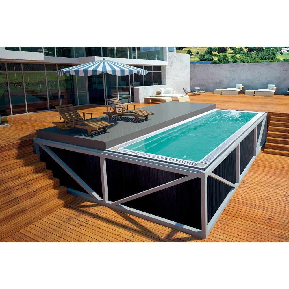 8-Đồng hồ thời trang bể Bơi Thủy Lực massage Sao/Resort/Giải Trí Khu Vực bất tận bể Tích Hợp đúc