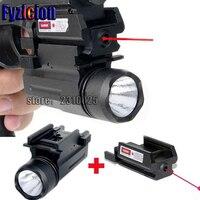 Fyzlcion Hunting Weapon Lights Dot Laser Sight Led Flashlight 2in1 Combo For Pistol Guns 1911 M9