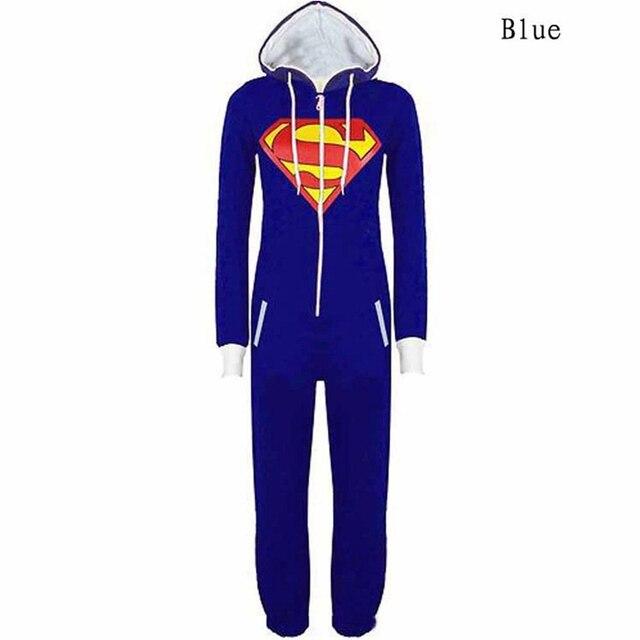 Sudaderas Cosplay hombres Unisex Superman Y BatMan impreso Con Capucha para adultos mono Para Mujeres Hombres pijama Superhero Mens Z5