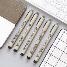 7 шт. микрон Pigma ручка концом Лайнер Рисование гелевая ручка эскиз Manga c Книги по искусству Ун Книги по искусству маркер школьные принадлежности канцелярские db922