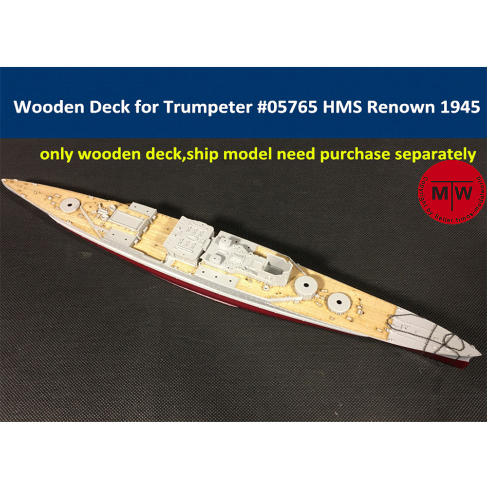 <font><b>1</b></font>/<font><b>700</b></font> <font><b>Scale</b></font> Wooden Deck for Trumpeter 05765 HMS Renown 1945 <font><b>Ship</b></font> <font><b>Model</b></font> Kit image