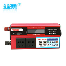 1000w Solar Inverter Multifunctional Travel Power Supply Control 4 USB Car inverter 12V 24V 110V 220V Circuit protection