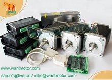 цена на 3 Axis Nema 34 Stepper Motor 892OZ-In &Control CNC Mill