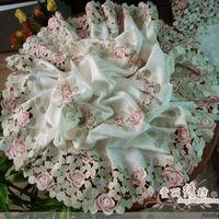 Деревенский моды качества вышивки столовая скатерть круглая скатерть вырез крышки полотенце Великолепная Роза